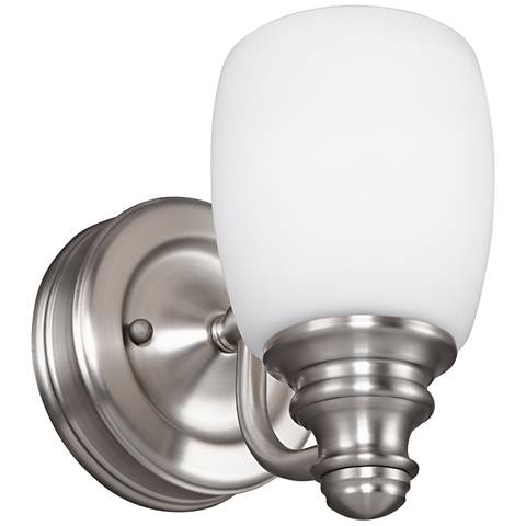 "Feiss Bentley 6 1/2"" High Satin Nickel Wall Sconce"