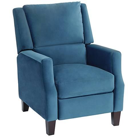 Irina Blue Velvet Recliner Chair