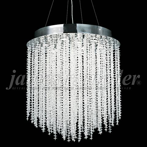"James Moder Continental Fashion 28"" Wide Silver Chandelier"