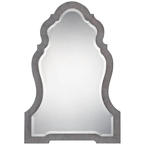 "Uttermost Carroll Aged Gray 30"" x 43"" Wall Mirror"