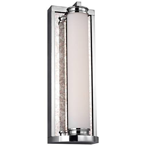 "Feiss Khoury 14 3/4"" High Chrome LED Wall Sconce"