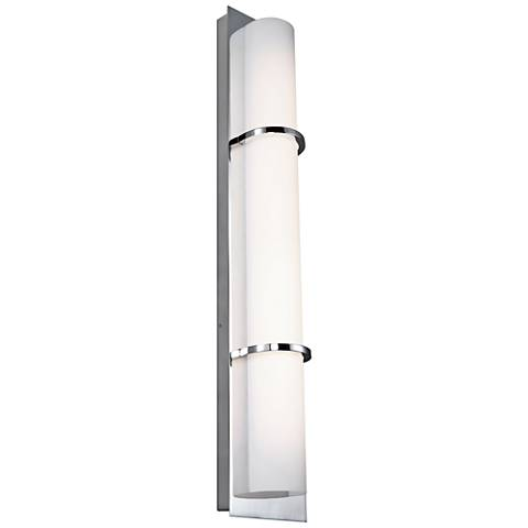 """Feiss Cynder 28"""" High Chrome LED Wall Sconce"""