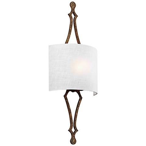 "Feiss Tilling 29 3/4"" High Distressed Gold Leaf Wall Sconce"