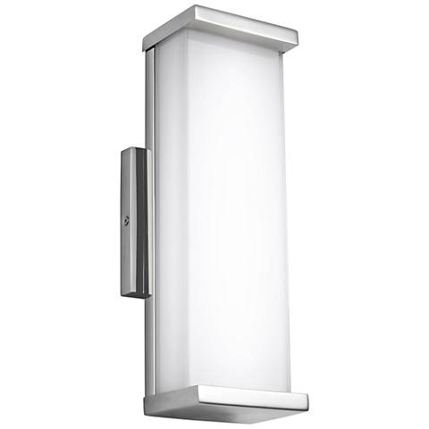 """Altron 13 1/4""""H Stainless Steel LED Outdoor Wall Light"""