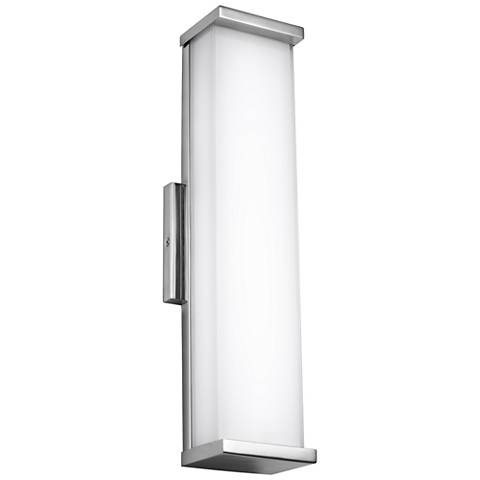 """Altron 18""""H Polished Stainless Steel LED Outdoor Wall Light"""