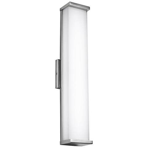 """Altron 24""""H Polished Stainless Steel LED Outdoor Wall Light"""