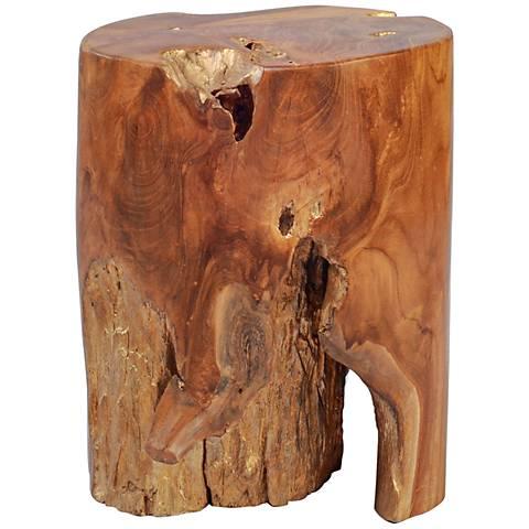 Zuo Petro Natural Wax Wood Table Stool