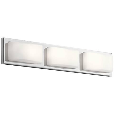 "Elan Kelsi 27"" Wide Chrome 3-LED Bath Light"