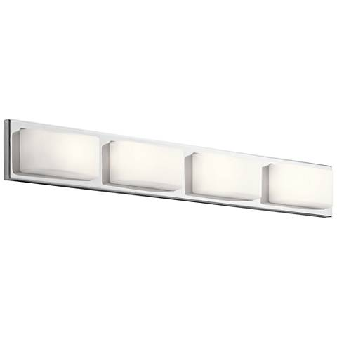 "Elan Kelsi 36"" Wide Chrome 4-LED Bath Light"