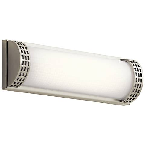 "Elan Column 15"" Wide Brushed Nickel LED Bath Light"