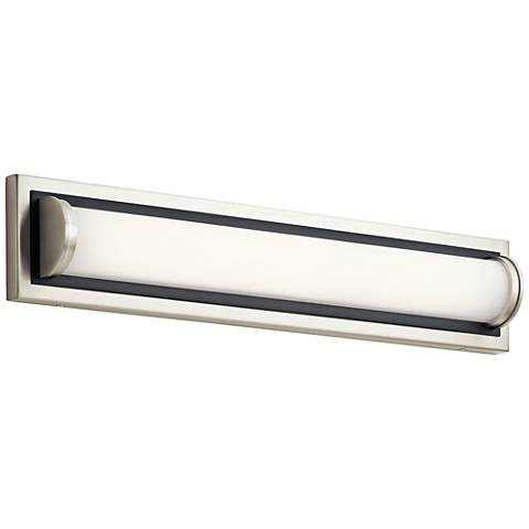 "Elan Sandro 24"" Wide Brushed Nickel w/ Black LED Bath Light"