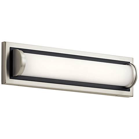 "Elan Sandro 18"" Wide Brushed Nickel w/ Black LED Bath Light"