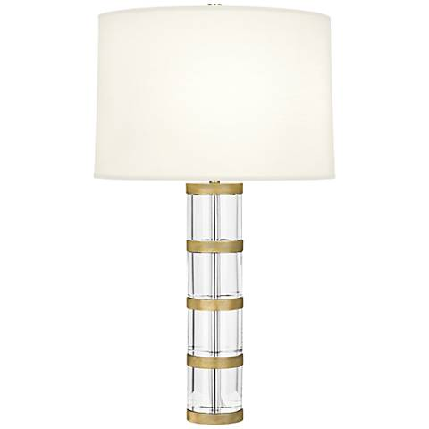Robert Abbey Wyatt Modern Brass Table Lamp with White Shade