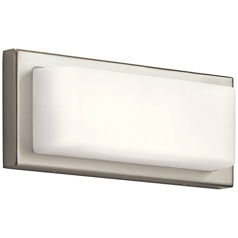 "Elan Kelsi 12"" Wide Brushed Nickel LED Bath Light"