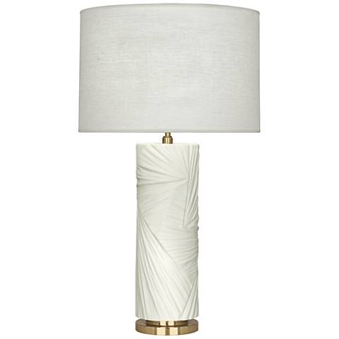 Michael Berman Lucien Lily and Modern Brass Table Lamp