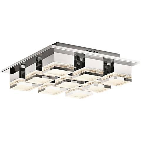"""Elan Gorve 16 1/4"""" Wide Chrome 9-LED Ceiling Light"""