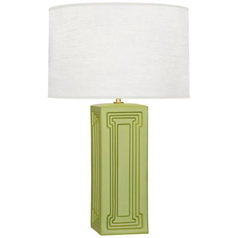 Robert Abbey Nottingham Parrot Green Ceramic Table Lamp