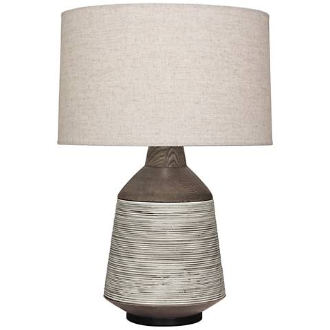 Berkley Antique Oyster Vessel Table Lamp with Heather Shade