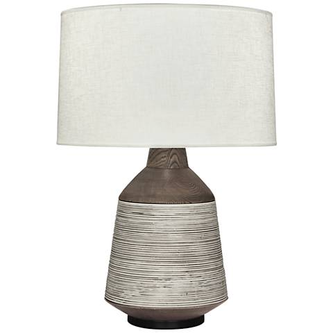 Berkley Antique Oyster Vessel Table Lamp with Cream Shade