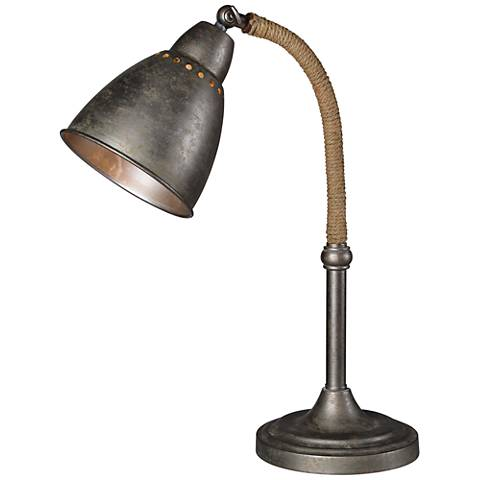 Forty West Gage Industrial Raw Metal Adjustable Desk Lamp