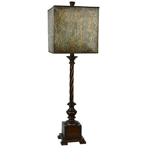 Forty West Scott Metallic Bronze Twist Candlestick Buffet Lamp