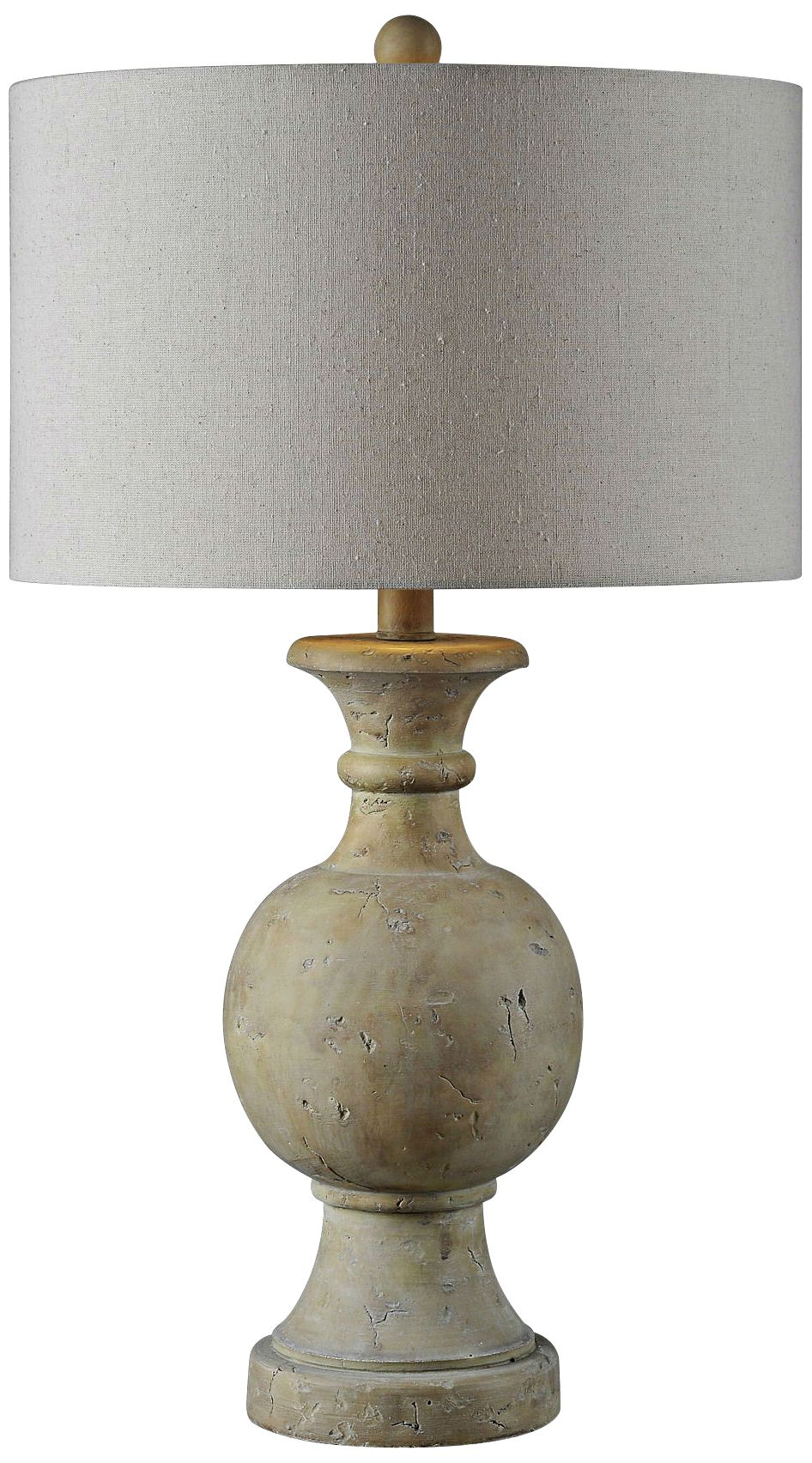 Delightful Forty West Ellis Natural Carved Faux Stone Table Lamp