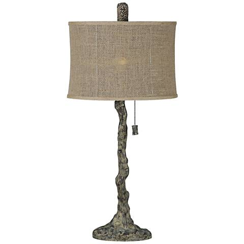 Forty West Knox Textured Tree-Bark Brown Table Lamp