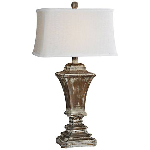 Forty West Kingston Distressed Medium Brown Table Lamp