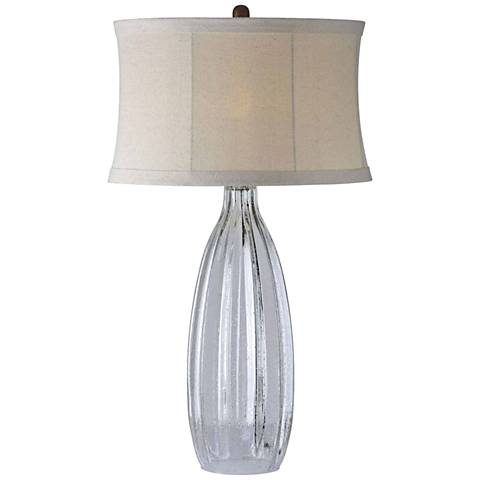 Forty West Summer Clear Hand-Blown Seedy Glass Jug Table Lamp