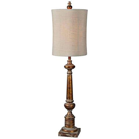 Forty West Delilah Aged Copper Oversize Candlestick Buffet Lamp