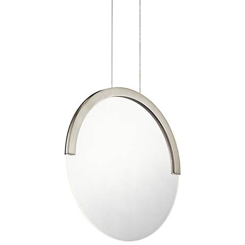"Elan Slice 15"" Wide Brushed Nickel LED Pendant Light"