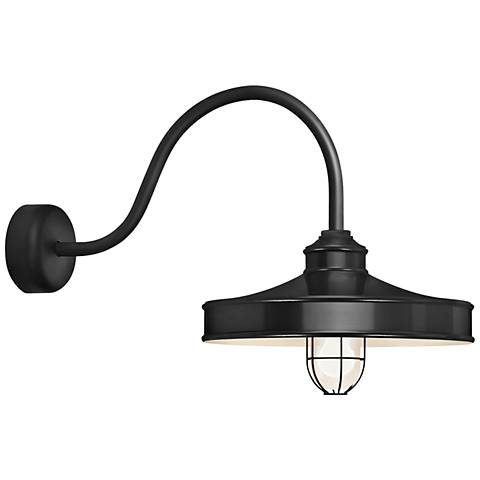 "Nostalgia 18"" High Black Outdoor Wall Light"