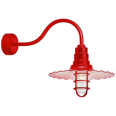 "Radial Wave 15 3/4"" High Red Outdoor Wall Light"
