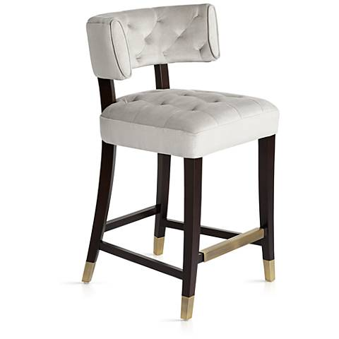Tatum 26 Quot Champagne White Tufted Counter Stool 19r45