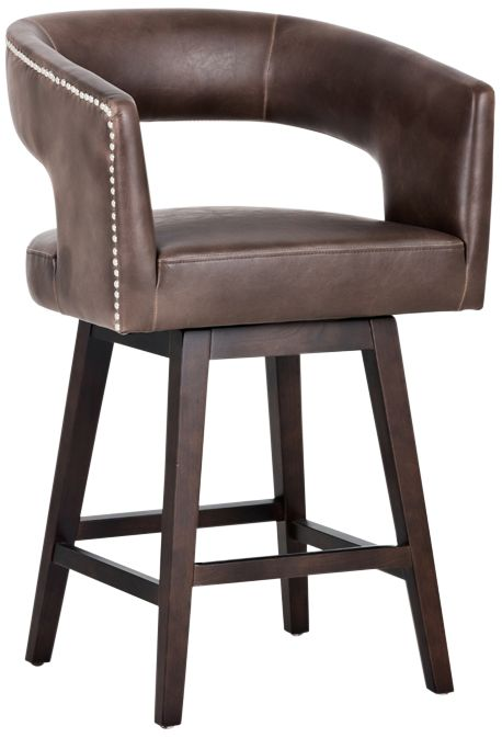 Draco 26 1/2  Espresso Brown Swivel Counter Stool  sc 1 st  L&s Plus : swivel counter stools with back - islam-shia.org