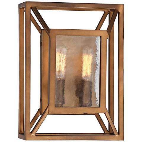 """Athina 10 3/4"""" High Gilded Bronze 2-Light Wall Sconce"""