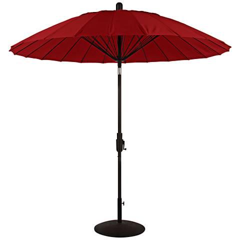 Balboa Breeze 8 1/4-Foot Jockey Red Sunbrella Patio Umbrella