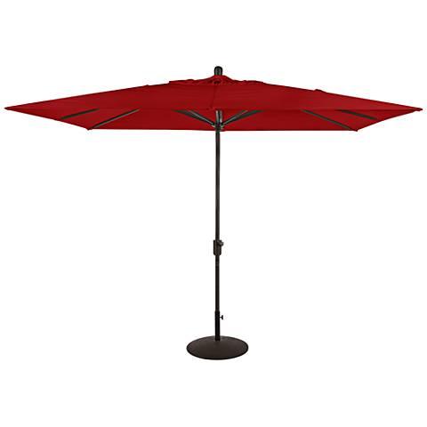 La Jolla 9 3/4-Foot Jockey Red Sunbrella Market Umbrella