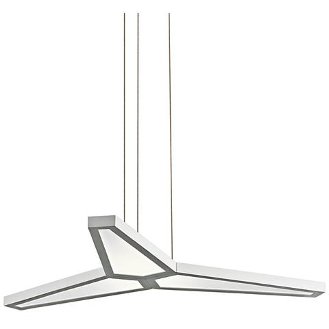 "Elan Viva 29"" Wide Matt White 3-LED Pendant"