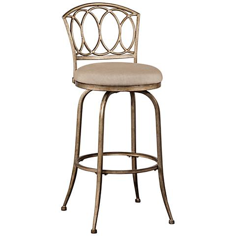 "Hillsdale Corrina 26"" Ash Swivel Outdoor Counter Stool"