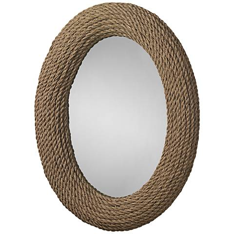 "Jamie Young Neptune Natural Rope 30"" x 42"" Wall Mirror"