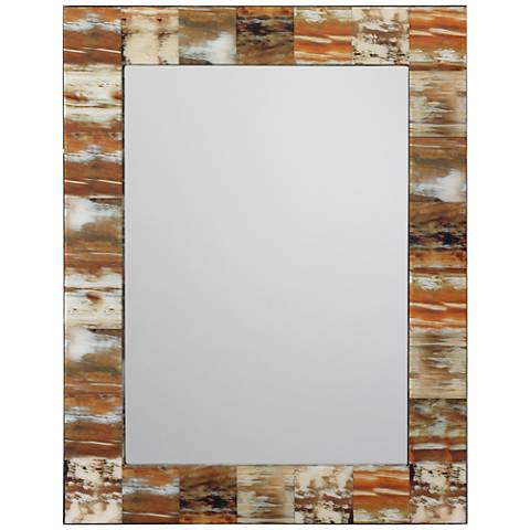 """Jamie Young Faux Horn 28"""" x 36"""" Rectangle Wall Mirror"""