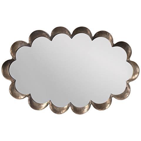 "Jamie Young Scallop Antique Silver 23"" x 36"" Mirror"