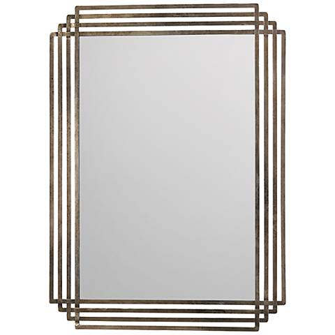 "Jamie Young Serai Antique Silver 44"" x 32"" Wall Mirror"