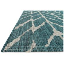 """Isle IE-02 7'10""""x10'9"""" Teal and Gray Outdoor Area Rug"""
