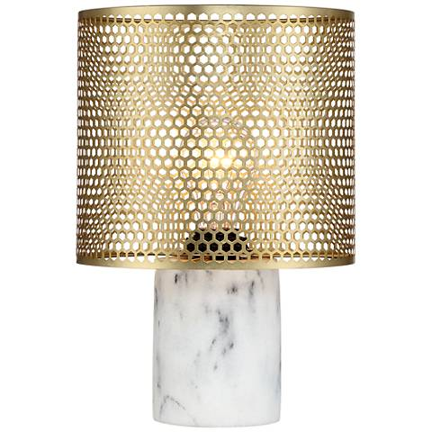 Elijah Brass and White Accent Table Lamp