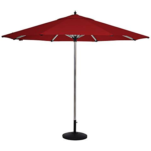 Coronado Sands 8 3/4-Foot Jockey Red Patio Umbrella