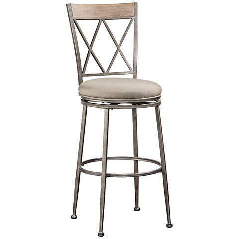Hillsdale Stewart Silver Swivel Outdoor Counter Stool