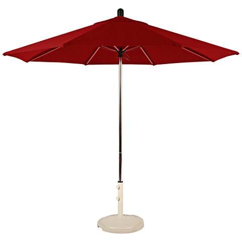 Santa Barbara 8 3/4-Foot Jockey Red Sunbrella Patio Umbrella