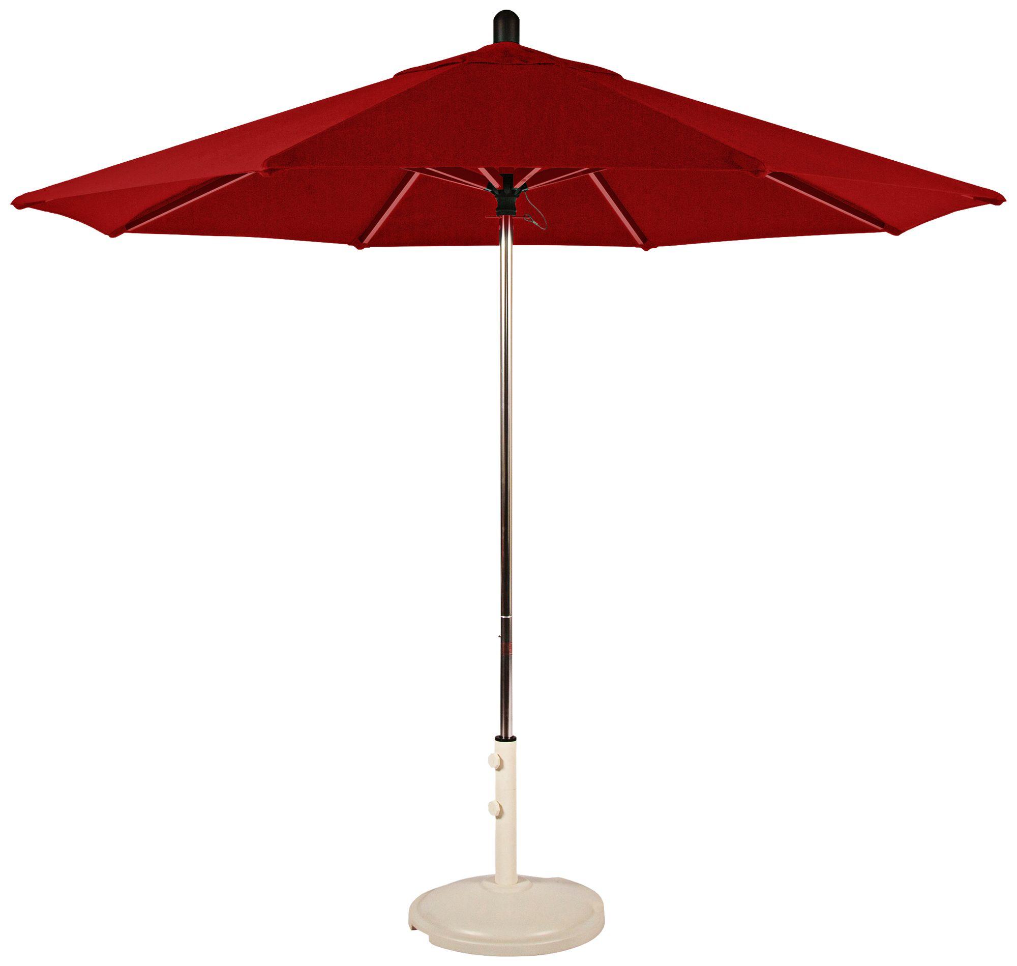 Santa Barbara 8 3/4 Foot Jockey Red Sunbrella Patio